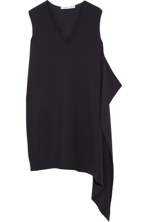 HELMUT LANG Asymmetric draped crepe mini dress