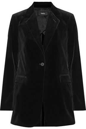 THEORY Stretch-cotton velvet blazer