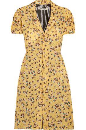 JUNYA WATANABE COMME des GARÇONS Floral-print chiffon and lamé dress