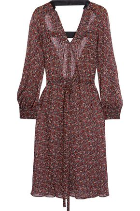JUNYA WATANABE Open-back floral-print georgette dress