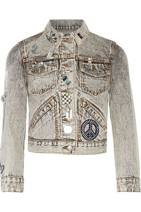 MARC JACOBS Embellished appliquéd denim jacket