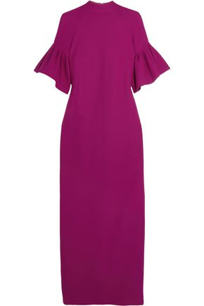 MERCHANT ARCHIVE Ruffled wool-crepe gown