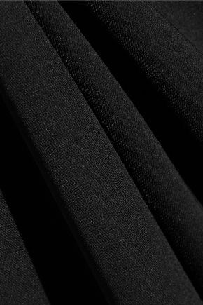 HALSTON HERITAGE Cape-effect one-shoulder crepe gown