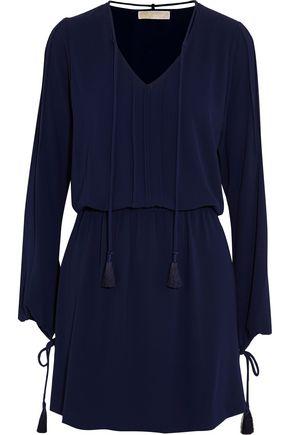 MICHAEL MICHAEL KORS Tassel-trimmed crepe mini dress
