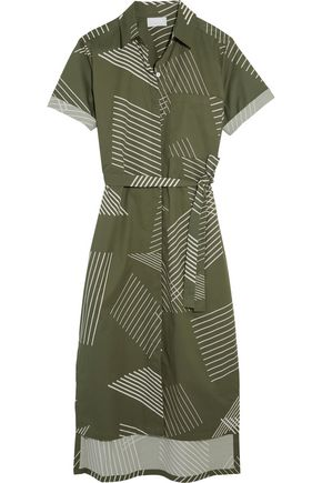 DKNY Printed cotton-blend midi dress
