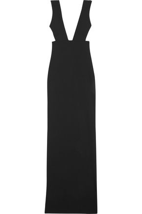 SOLACE LONDON Dalia open-back crepe maxi dress