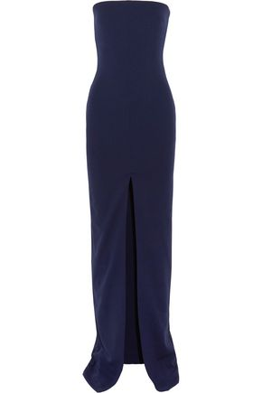 SOLACE LONDON Aubrey strapless stretch-crepe gown