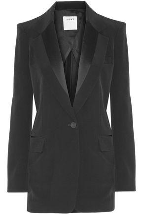 DKNY Satin-trimmed faille blazer