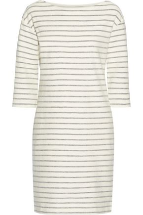 BY MALENE BIRGER Striped cotton-terry dress