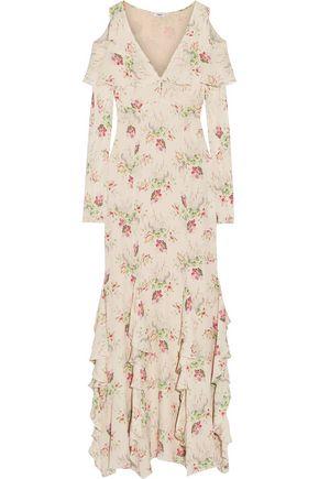 VILSHENKO Bonita printed silk-georgette gown