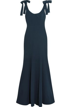 REBECCA VALLANCE Breakers cutout crepe maxi dress