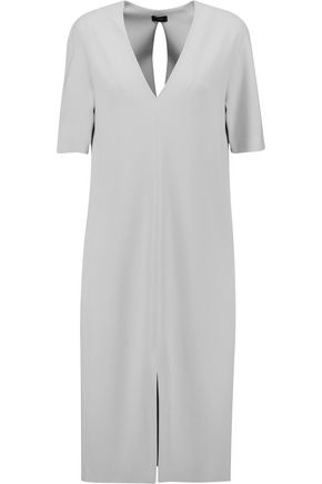 JOSEPH Phoebe belted crepe dress