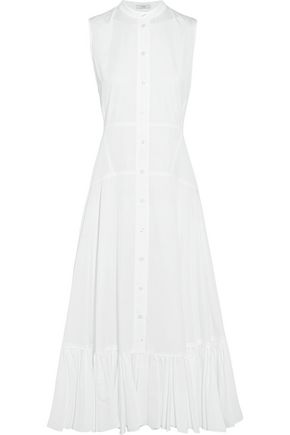 TOME Ruffle-trimmed organic cotton midi dress