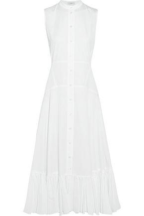 TOME Ruffle-trimmed organic cotton midi dress