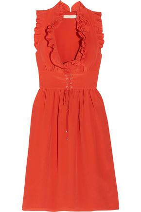 VANESSA BRUNO Gimmy ruffled silk crepe de chine dress
