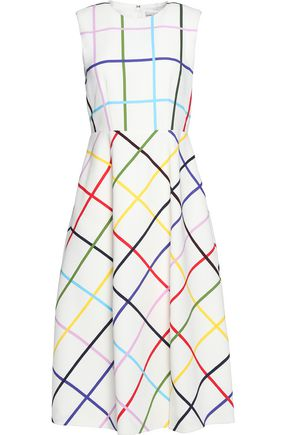MARY KATRANTZOU Pleated printed crepe dress