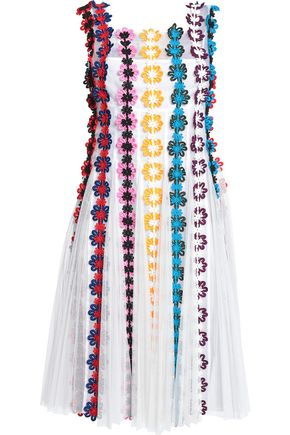 MARY KATRANTZOU Appliquéd tulle and silk-organza dress