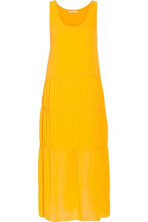 MAJE Tiered crepe midi dress