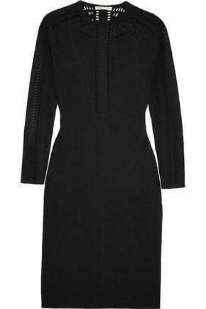MAJE Cutout stretch-knit mini dress
