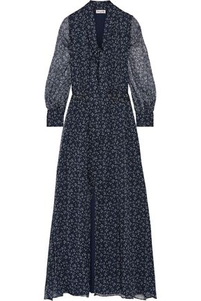 PAUL & JOE Pussy-bow printed silk-crepon maxi dress
