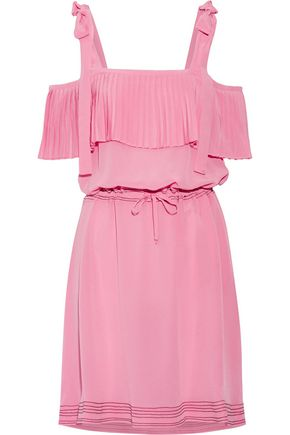 PAUL & JOE Cold-shoulder silk crepe de chine dress