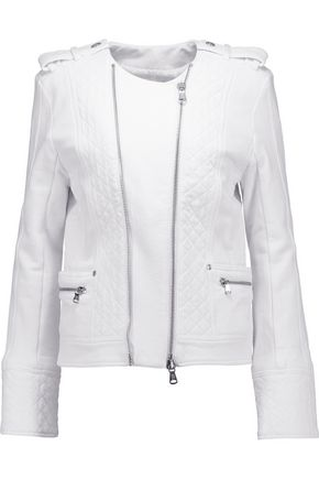 PIERRE BALMAIN Quilted cotton-jersey biker jacket