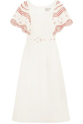 PAUL & JOE Broderie anglaise-trimmed cotton-voile dress