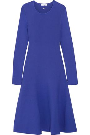 MUGLER Fluted stretch-knit dress