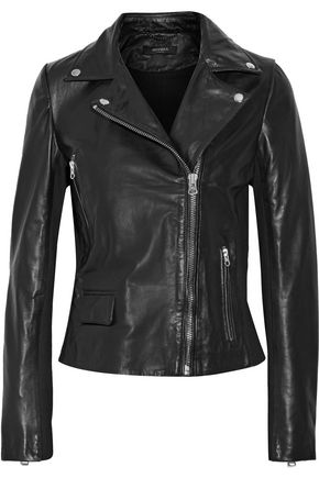 MUUBAA Bentley paneled leather biker jacket