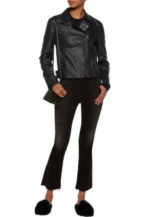 MUUBAA Canes textured-leather biker jacket