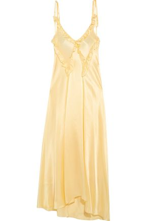 ATTICO Marisa ruffled silk-satin maxi dress