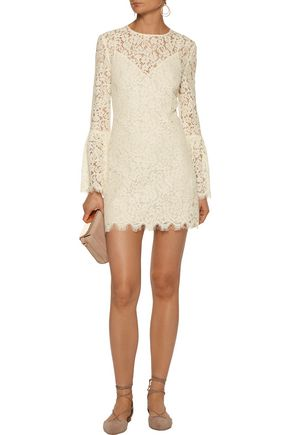 Rachel Zoe Dresses RACHEL ZOE WOMAN CARTER CORDED LACE MINI DRESS ECRU