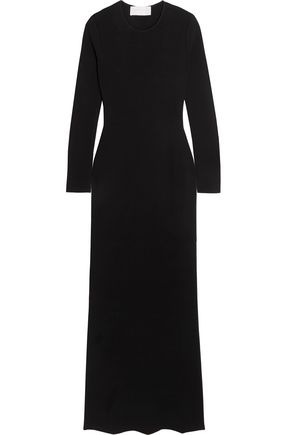 ESTEBAN CORTAZAR Peace Sign open-back stretch-knit maxi dress