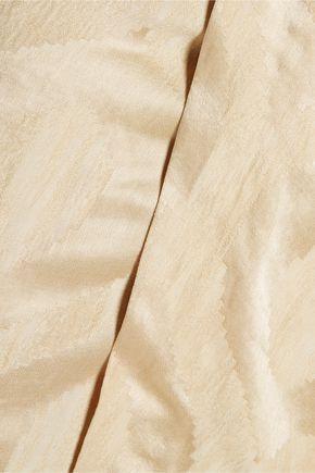 ISABEL MARANT Servane layered satin-jacquard mini wrap dress
