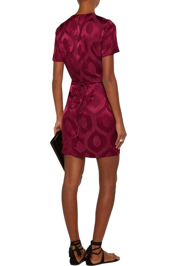 Servane layered satin-jacquard mini wrap dress | ISABEL MARANT | Sale up to  70% off | THE OUTNET
