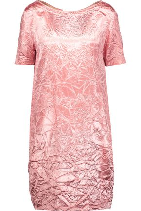 NINA RICCI Crinkled-satin mini dress
