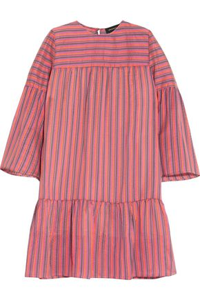 VANESSA SEWARD Striped silk-jacquard mini dress