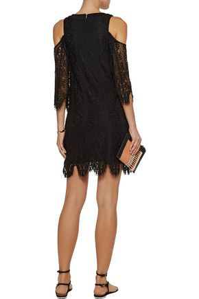 TART COLLECTIONS Lilou cold-shoulder corded lace mini dress