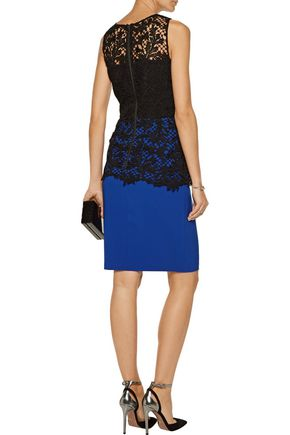 SACHIN & BABI Carolina lace and stretch-cady dress