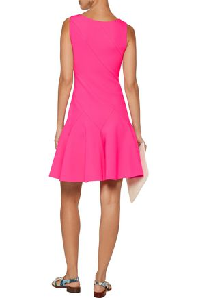 10 CROSBY DEREK LAM Pleated neoprene mini dress