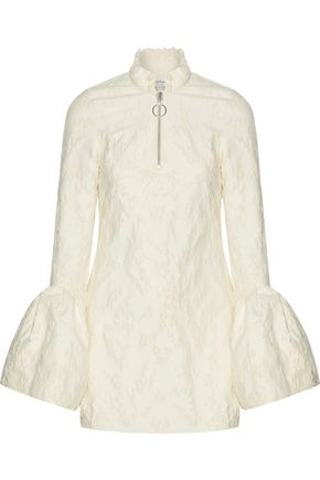 MARQUES ALMEIDA Frayed brocade mini dress
