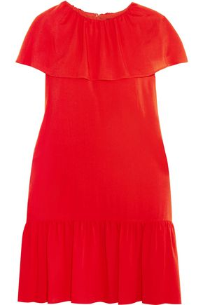VANESSA SEWARD Ruffled crepe de chine mini dress