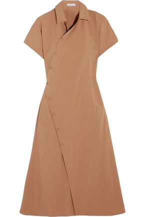 TOMAS MAIER Cotton-blend poplin wrap dress