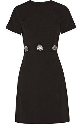 MICHAEL MICHAEL KORS Crystal-embellished stretch-crepe mini dress