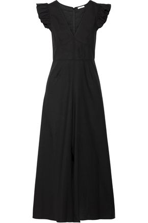 TOME Ruffle-trimmed cotton-voile midi dress