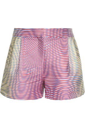 MARY KATRANTZOU Pleated jacquard shorts
