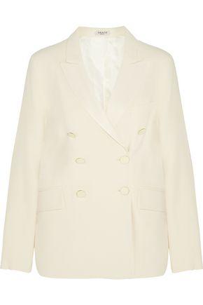 GRACE MMXIII Satin-trimmed wool-blend gabardine blazer