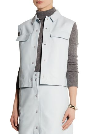 RICHARD NICOLL Sleeveless leather jacket