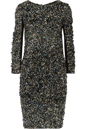HAUTE HIPPIE Sequined stretch-jersey mini dress
