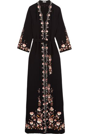 VILSHENKO Beatrice embroidered crepe maxi dress ...